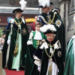 Prince William at the Thistle Ceremony in Edinburgh, Scotland with Queen Elizabeth, Prince Philip and Princess Anne 119693