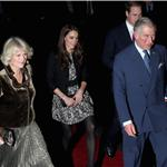 Prince William and Catherine, Duchess of Cambridge, Prince Charles, and Camilla, Duchess of Cornwall arrive ahead of a fund-raising concert hosted by British singer-songwriter Gary Barlow at the Royal Albert Hall in London 100048