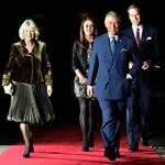 Prince William and Catherine, Duchess of Cambridge, Prince Charles, and Camilla, Duchess of Cornwall arrive ahead of a fund-raising concert hosted by British singer-songwriter Gary Barlow at the Royal Albert Hall in London 100050