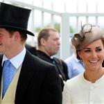 Prince Harry with Catherine at Epsom Derby June 2011  86857