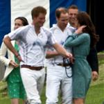 Prince William, Prince Harry and Catherine at a polo match at Cowarth Park Windsor 114395