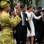 Prince William, Duke of Cambridge and Catherine, Duchess of Cambridge in Kuala Lumpur, Malaysia on day 4 of the Diamond Jubilee Tour of the Far East  126254