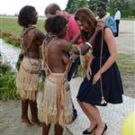 Prince William and Catherine, Duchess of Cambridge tour the Solomon Islands as part of their Diamond Jubilee tour of the Far East 126350