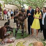 Prince William and Catherine, Duchess of Cambridge tour the Solomon Islands as part of their Diamond Jubilee tour of the Far East 126383