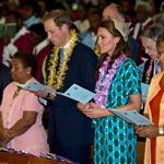 Prince William and Catherine, Duchess of Cambridge tour the Solomon Islands as part of their Diamond Jubilee tour of the Far East 126407