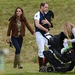 Prince William and Catherine with Lupo at a charity polo match 117782