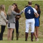 Prince William and Catherine with Lupo at a charity polo match 117783