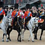 Prince William and Prince Charles attend the Trooping Of The Colour at Horse Guards Parade 117799