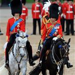 Prince William and Prince Charles attend the Trooping Of The Colour at Horse Guards Parade 117800
