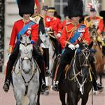 Prince William and Prince Charles attend the Trooping Of The Colour at Horse Guards Parade 117801
