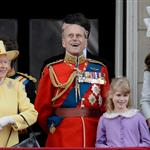 Prince Charles, Queen Elizabeth II, Prince Philip, Catherine, Prince Harry and Prince William on the balcony of Buckingham Palace following the Queen's Birthday Parade, Trooping the Colour at Horse Guards Parade 117815