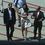 The Duke and Duchess of Cambridge arrive in Australia on their return leg to the UK after finishing their Diamond Jubilee tour of South East Asia and the South 126668