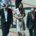 The Duke and Duchess of Cambridge arrive in Australia on their return leg to the UK after finishing their Diamond Jubilee tour of South East Asia and the South 126669