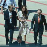 The Duke and Duchess of Cambridge arrive in Australia on their return leg to the UK after finishing their Diamond Jubilee tour of South East Asia and the South 126670
