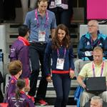 Prince William, Duke of Cambridge and Catherine, Duchess of Cambridge with Lady Louise Windsor and Sophie, Countess of Wessex on day 1 of the London 2012 Paralympic Games 124496