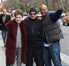 Robin Williams, Cindy Adams, and a TMZ photographer today in New York 51092