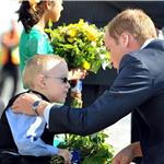 Prince William and Catherine presented flowers as they board their plane in Yellowknife  89346