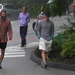Owen Wilson with Woody Harrelson and brother Andrew hiking Grouse Mountain  62209