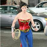 Adrianne Palicki shoots Wonder Woman in LA with costume adjustments  82334