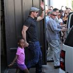Brad Pitt and Zahara cause riot at American Girl at The Grove 69491