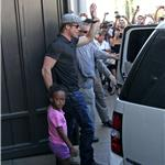 Brad Pitt and Zahara cause riot at American Girl at The Grove 69492