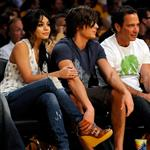 Zac Efron celebrates 17 Again box office win by taking Vanessa Hudgens to Laker playoff game and not taking off sunglasses 37112