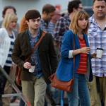 Zoe Kazan and Daniel Radcliffe in Toronto last week shooting The F Word 123995