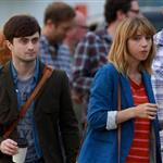 Zoe Kazan and Daniel Radcliffe in Toronto last week shooting The F Word 123996