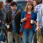 Zoe Kazan and Daniel Radcliffe in Toronto last week shooting The F Word 123997