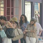 Zoe Saldana in New York with a woman the paps claim is Bradley Cooper's mother Gloria 119293