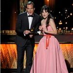 Zooey Deschanel with Will Arnett at the Emmy Awards 2011  94671