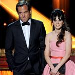 Zooey Deschanel with Will Arnett at the Emmy Awards 2011  94672