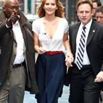 Jennifer Lawrence arrives at Good Morning America studios 1187