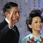 Andy Lau and Deanie Ip arrive for the red carpet of 2nd Beijing International Film Festival at China National Convention Center 103601