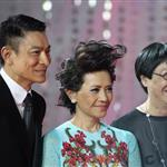 Andy Lau, Deanie Ip, and Ann Hui arrive for the red carpet of 2nd Beijing International Film Festival at China National Convention Center 103604