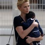 Charlize Theron with son Jackson at Paris airport 104192
