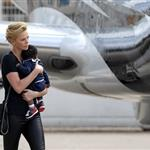 Charlize Theron with son Jackson at Paris airport 104193