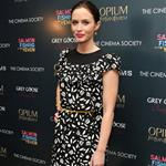 Emily Blunt attends the Cinema Society & Opium Yves Saint Laurent screening of Salmon Fishing in the Yemen at the Crosby Street Hotel in NYC 102433
