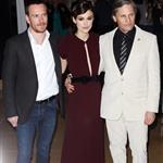Michael Fassbender, Keira Knightley and Viggo Mortensen at The gala premiere of A Dangerous Method in London 97913
