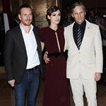 Michael Fassbender, Keira Knightley and Viggo Mortensen at The gala premiere of A Dangerous Method in London 97915