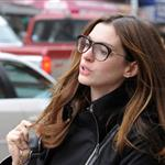 Anne Hathaway's amazing coat in New York  95544