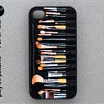 iphone 4 Case - iphone 4 cover - plastic or rubber - makeup brush pattern 106691
