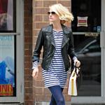 January Jones out in Tribeca 102619