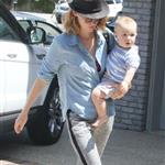 January Jones out in Malibu with her son  107096