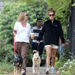 Kate Walsh works out with a friend and her dog in Los Feliz 104705