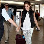Kristin Kreuk and Jay Ryan at LAX  106599