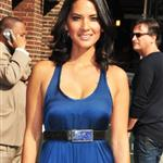 Olivia Munn arrives at The Late Show with David Letterman 107005