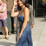 Olivia Munn arrives at The Late Show with David Letterman 107018
