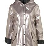 Longline Metal Plastic Mac Raincoat 102577