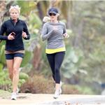 Reese Witherspoon running for the first time since being hit by car  95284